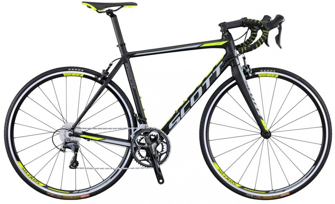 Велосипед шоссейный Scott Speedster 10 2016, цвет: черный, рама 20,5, колесо 28265451