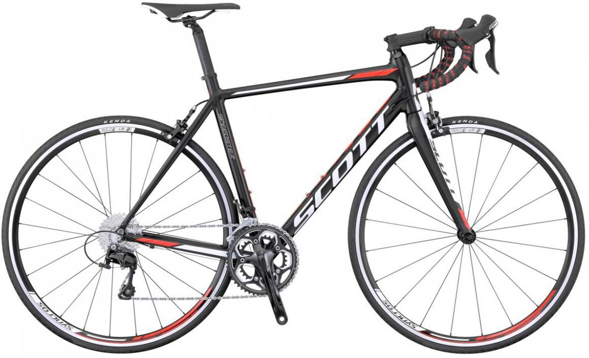 Велосипед шоссейный Scott Speedster 20 2016, цвет: черный, рама 24, колесо 28265479