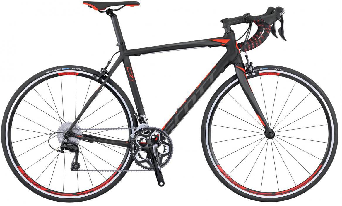 Велосипед шоссейный Scott CR1 20 2016, цвет: черный, рама 19,5, колесо 28265481