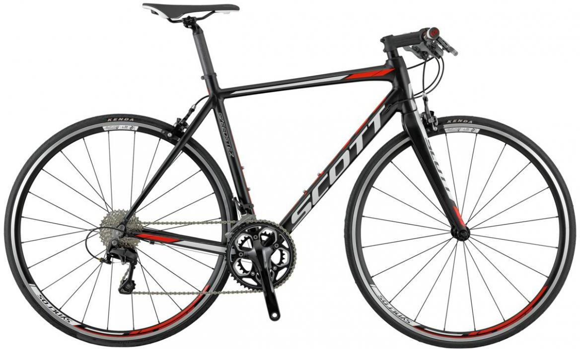 Велосипед шоссейный Scott Speedster 20 FB 2016, цвет: черный, рама 24, колесо 28265502