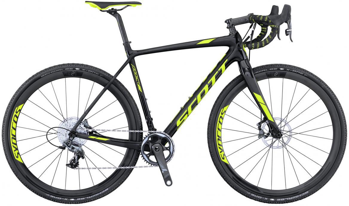 Велосипед шоссейный Scott Addict CX 10 Disc 2016, цвет: черный, рама 21, колесо 28265512
