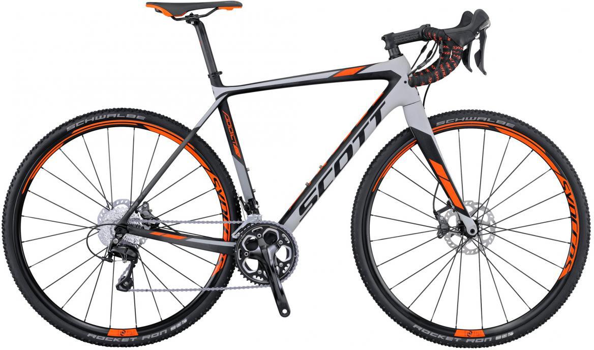Велосипед шоссейный Scott Addict CX 20 Disc 2016, цвет: серый, рама 22, колесо 28265532