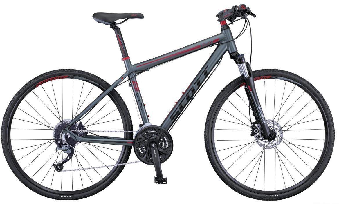 Велосипед городской Scott Sub Cross 40 Men 2016, цвет: серый, рама 22, колесо 28265544