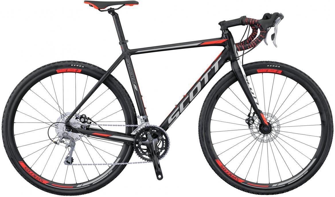 Велосипед шоссейный Scott Speedster CX 20 Disc 2016, цвет: черный, рама 21, колесо 28265561