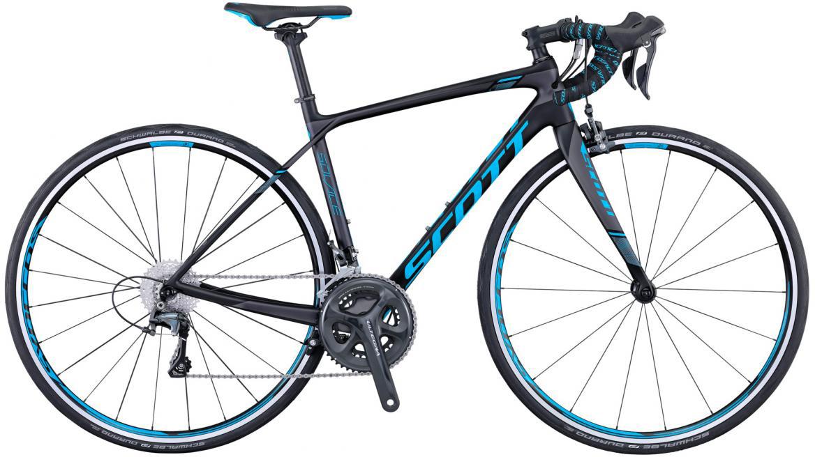 Велосипед шоссейный Scott Contessa Solace 15 2016, цвет: черный, рама 18, колесо 28265631