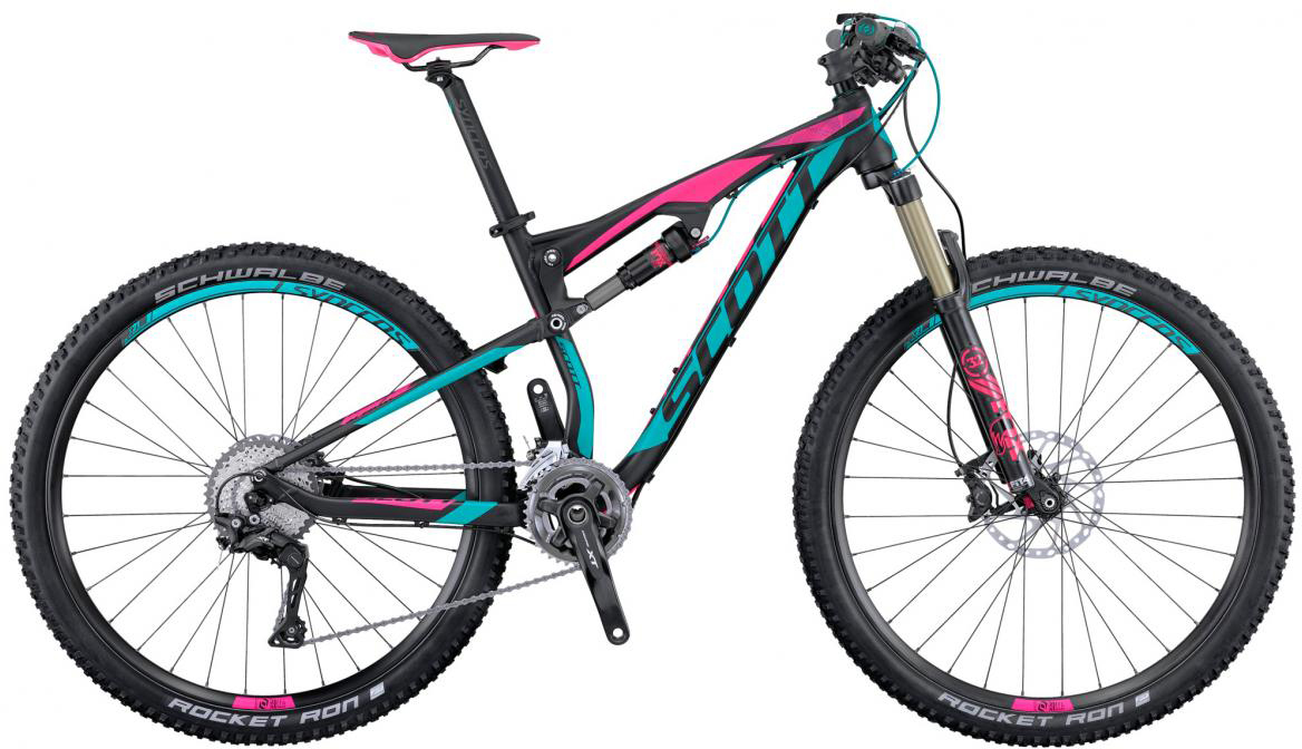 Велосипед горный Scott Contessa Spark 700 2016, двухподвесный, цвет: черный, рама 18, колесо 27,5265642