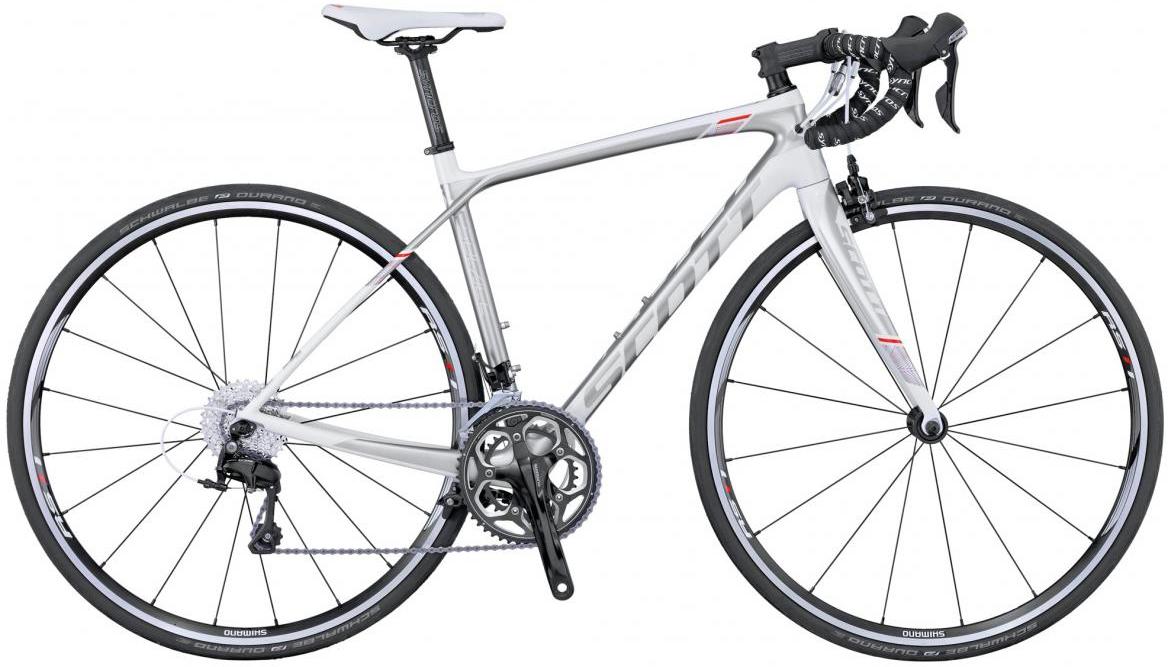 Велосипед шоссейный Scott Contessa Solace 25 2016, цвет: серый, рама 21,5, колесо 28260