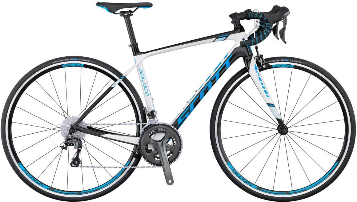 Велосипед шоссейный Scott Contessa Solace 35 2016, цвет: белый, рама 21,5, колесо 28268