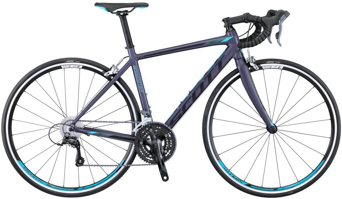 Велосипед шоссейный Scott Contessa Speedster 45 2016, цвет: синий, рама 21,5, колесо 28265711