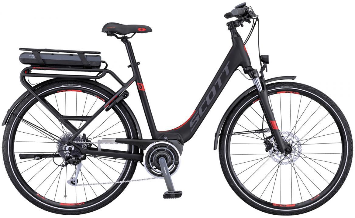 Электровелосипед горный Scott E-Sub Comfort Unisex 2016, цвет: черный, рама 18, колесо 28265734