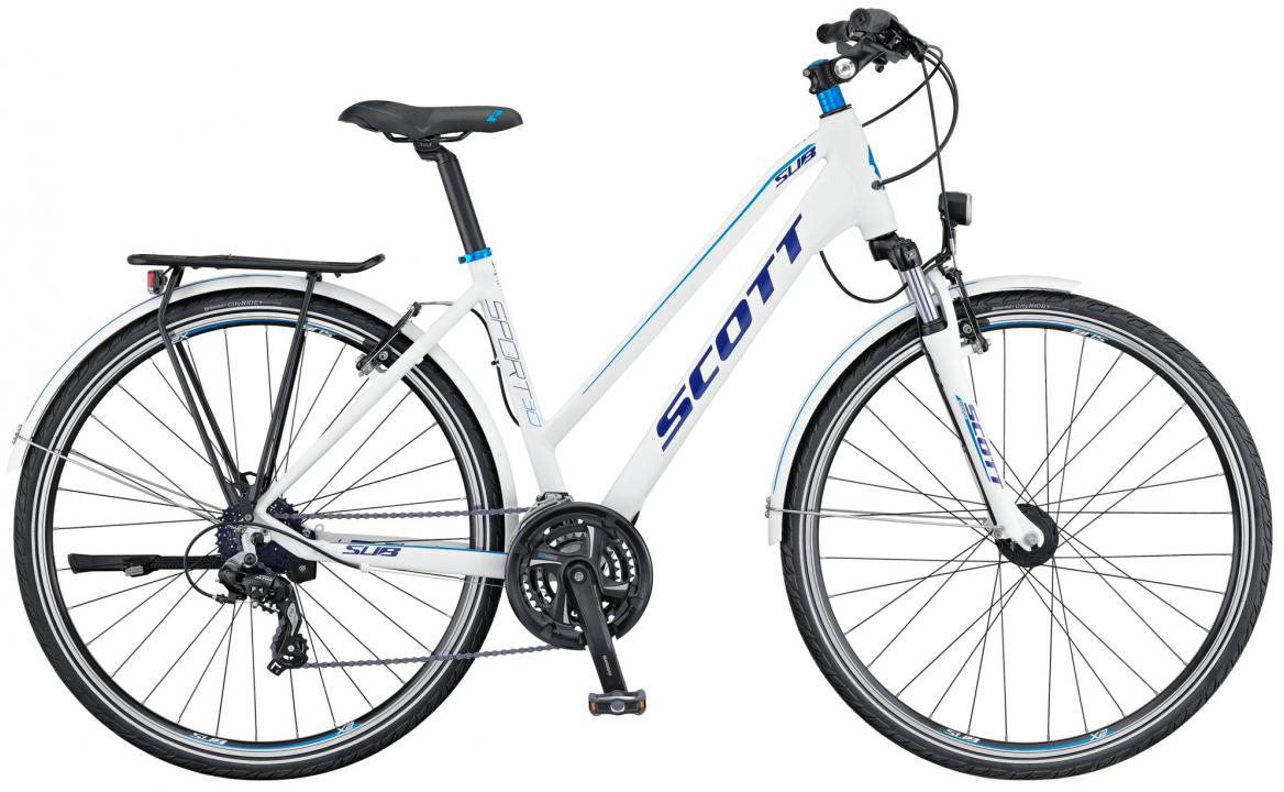 Велосипед городской Scott Sub Sport 30 Lady 2016, цвет: белый, рама 16, колесо 28265757