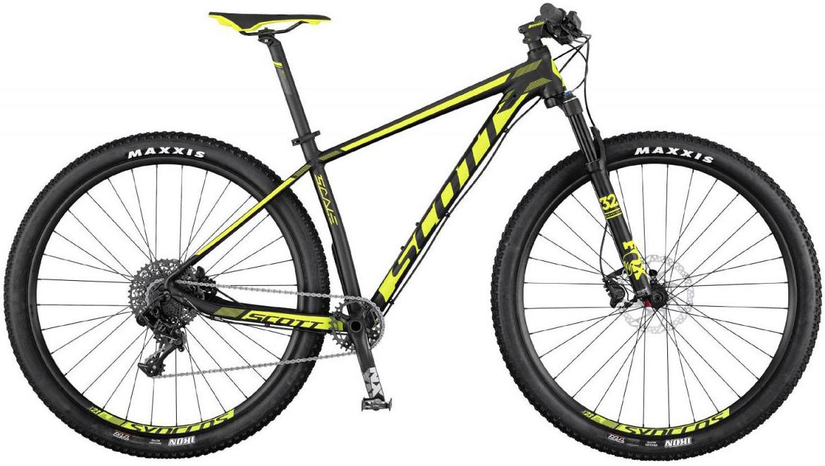 Велосипед горный Scott Scale 745 2017, цвет: желтый, рама 18, колесо 27,5275464
