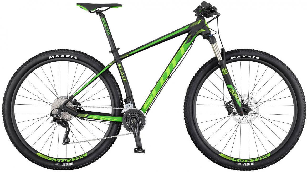 Велосипед горный Scott Scale 760 2017, цвет: зеленый, рама 14, колесо 27,5275473