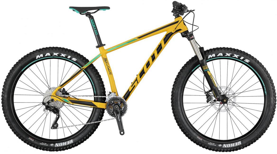 Велосипед горный Scott Scale 730 Plus 2017, цвет: желтый, рама 16, колесо 27,5275764