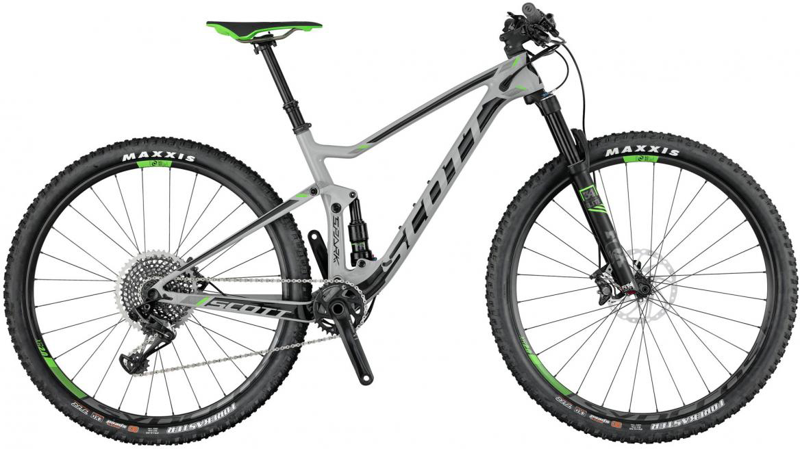 Велосипед горный Scott Spark 700 2017, двухподвесный, цвет: серый, рама 18, колесо 27,5275850