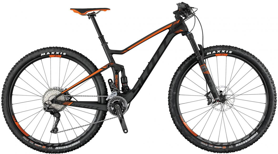 Велосипед горный Scott Spark 710 2017, двухподвесный, цвет: оранжевый, рама 20, колесо 27,5275854
