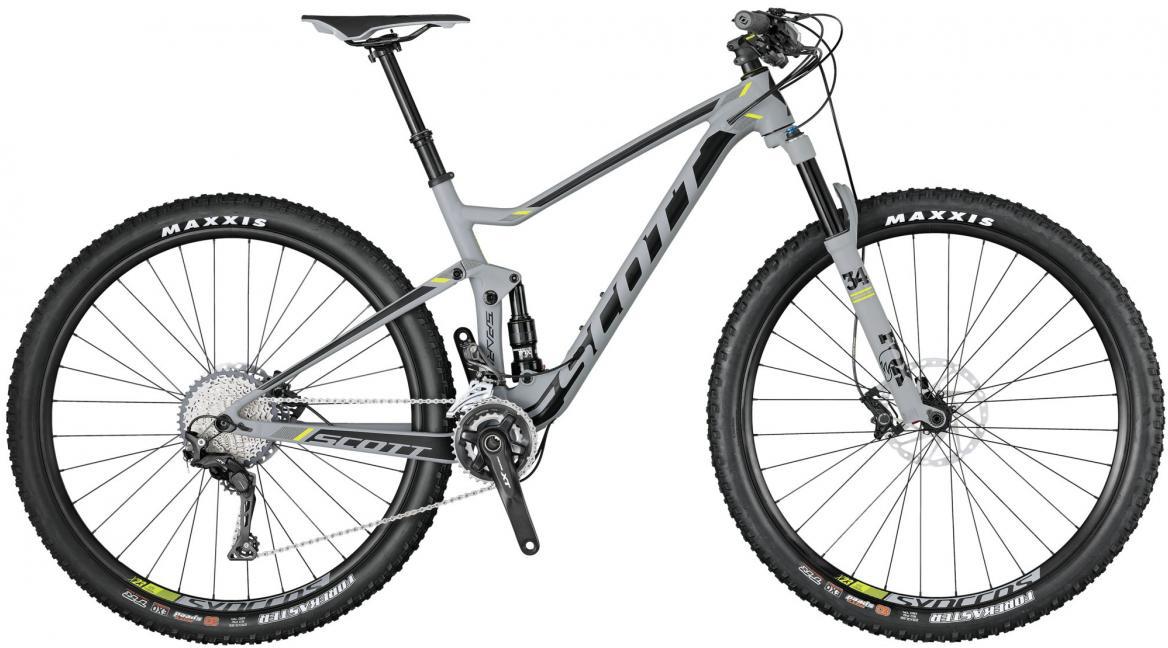 Велосипед горный Scott Spark 740 2017, двухподвесный, цвет: серый, рама 18, колесо 27,5275864
