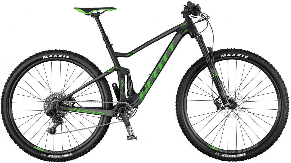 Велосипед горный Scott Spark 745 2017, двухподвесный, цвет: зеленый, рама 18, колесо 27,5275869
