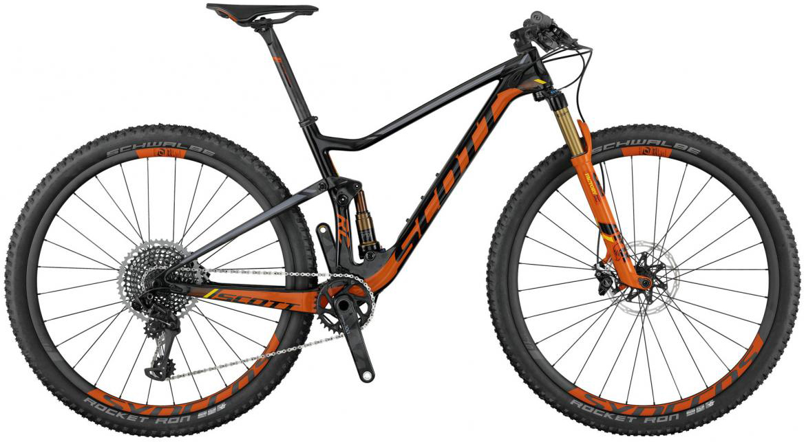 Велосипед горный Scott Spark RC 900 SL 2017, двухподвесный, цвет: оранжевый, рама 22, колесо 29275996