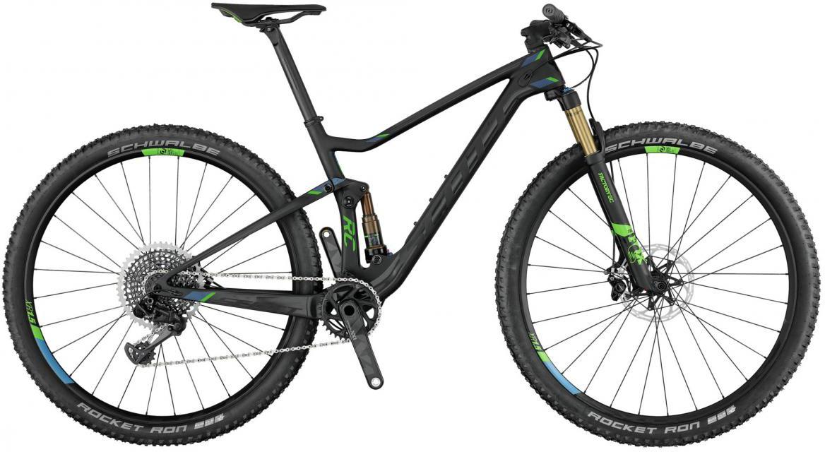 Велосипед горный Scott Spark 900 Ultimate 2017, двухподвесный, цвет: черный, рама 20, колесо 29276011