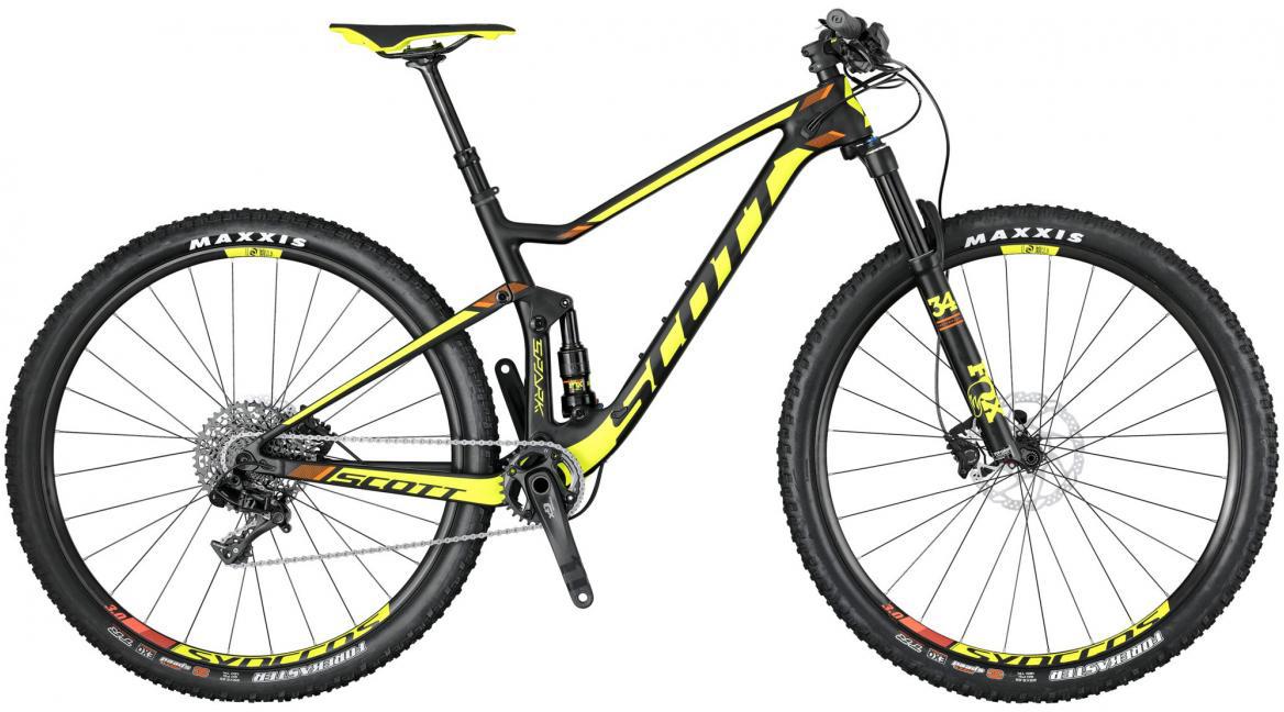 Велосипед горный Scott Spark 930 2017, двухподвесный, цвет: желтый, рама 16, колесо 29276029
