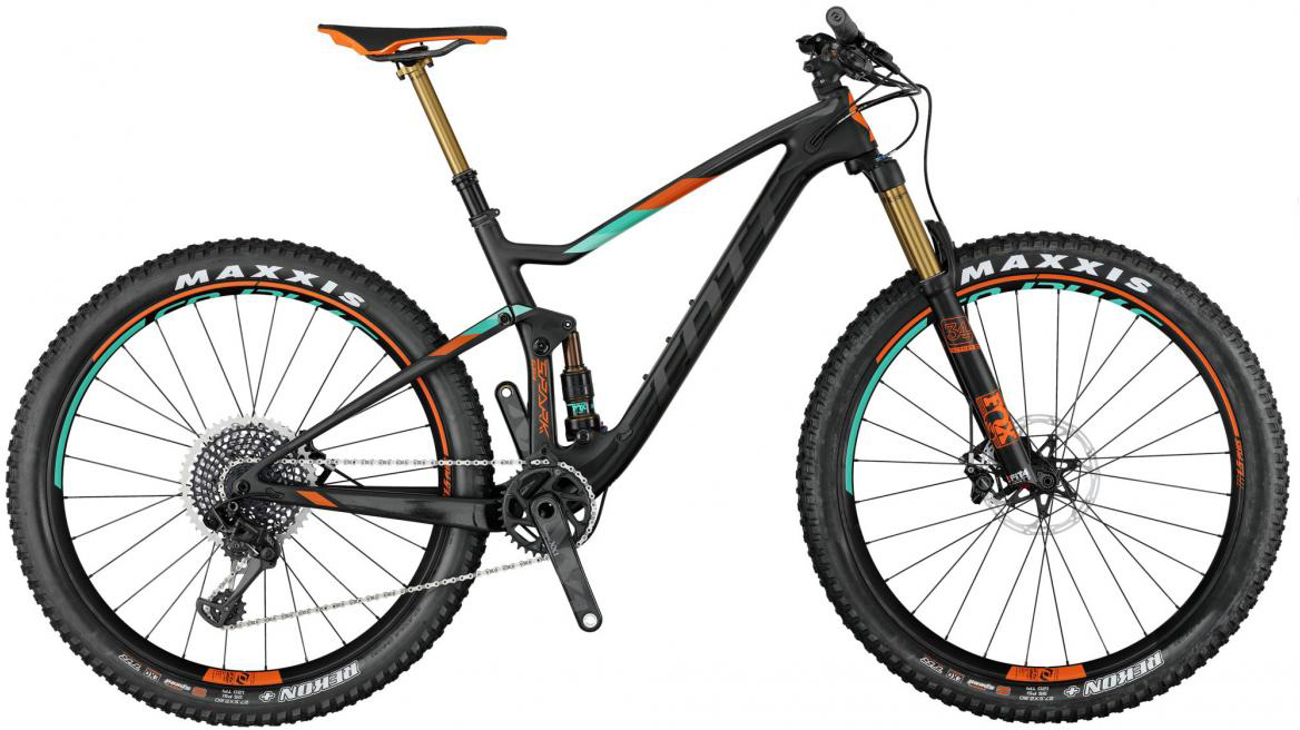 Велосипед горный Scott Spark 700 Plus Tuned 2017, двухподвесный, цвет: оранжевый, рама 16, колесо 27,5276051