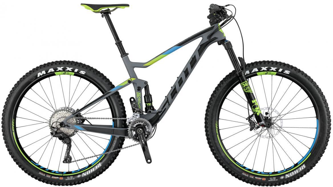 Велосипед горный Scott Spark 710 Plus 2017, двухподвесный, цвет: серый, рама 18, колесо 27,5276056