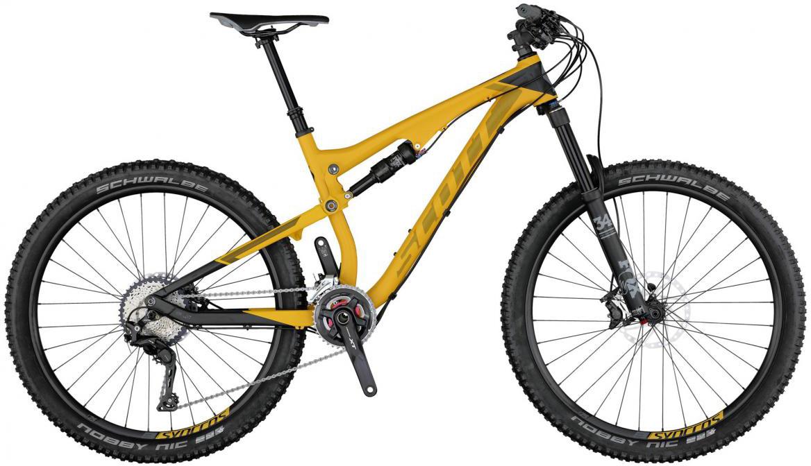 Велосипед горный Scott Genius 730 2017, двухподвесный, цвет: желтый, рама 16, колесо 27,5276158