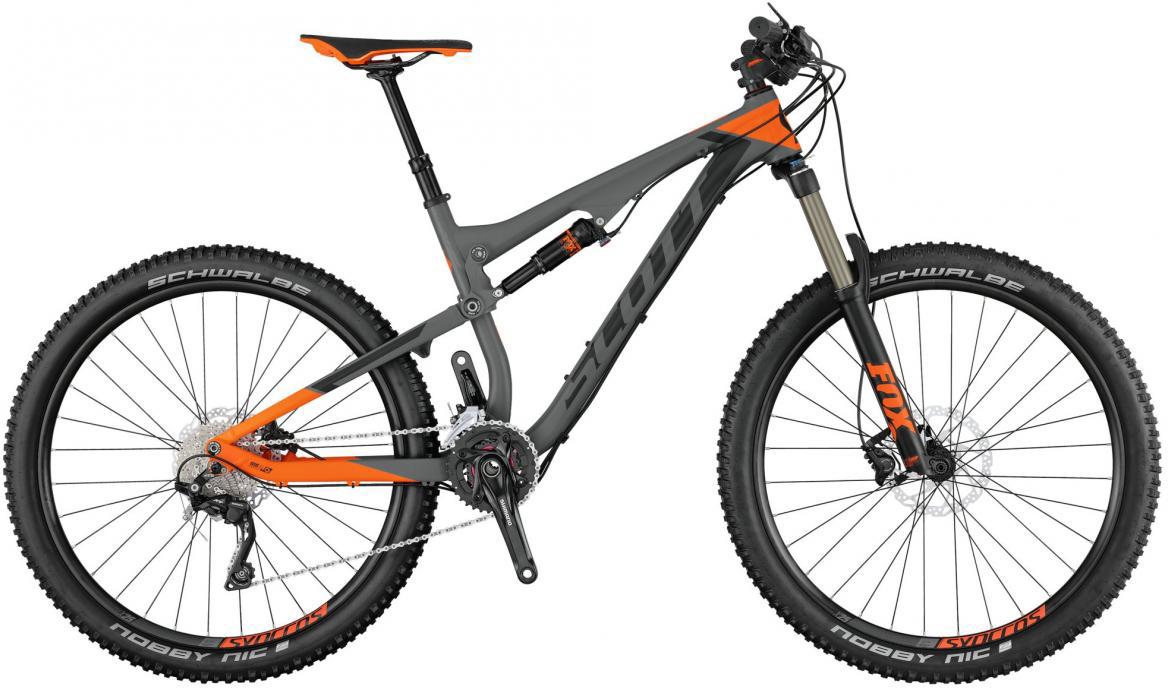 Велосипед горный Scott Genius 740 2017, двухподвесный, цвет: серый, рама 18, колесо 27,5276163