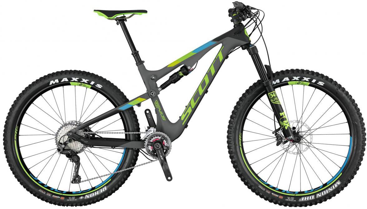 Велосипед горный Scott Genius 710 Plus 2017, двухподвесный, цвет: серый, рама 16, колесо 27,5276174