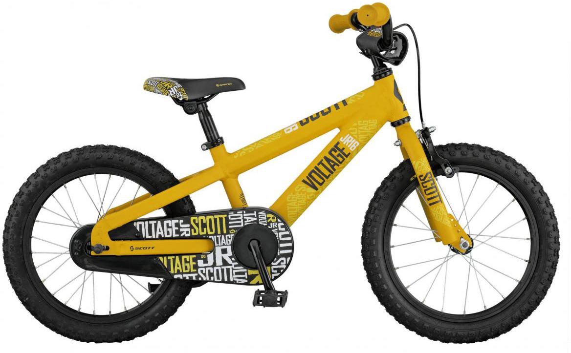 Велосипед детский Scott Voltage JR 2017, цвет: желтый, рама , колесо 16276409