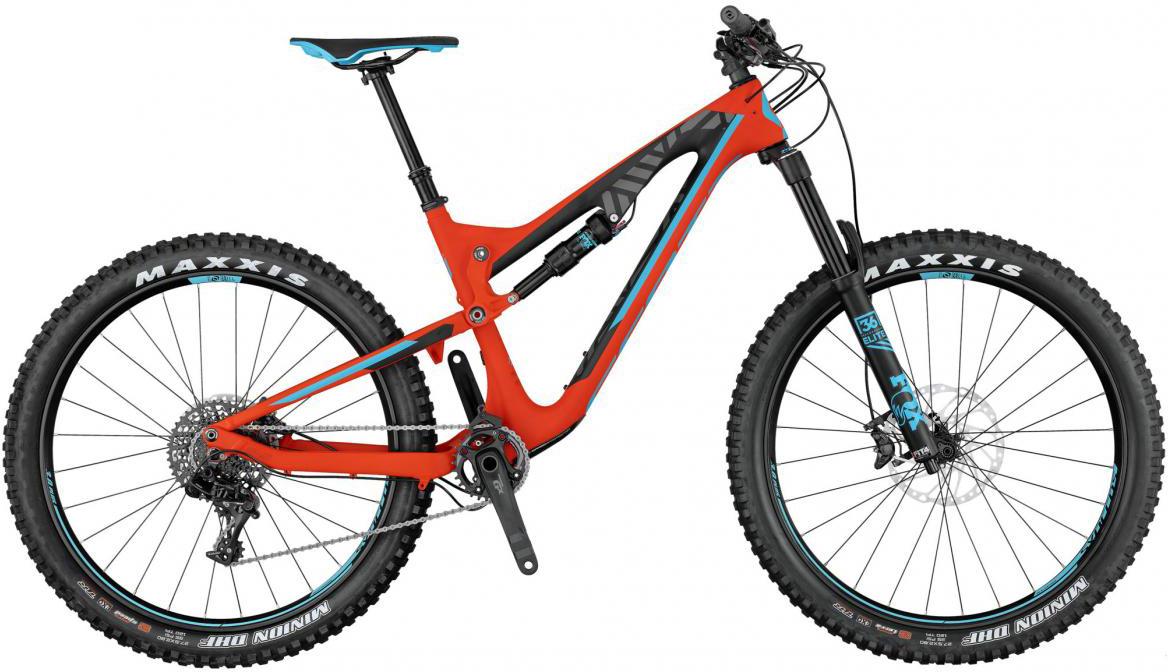 Велосипед горный Scott Genius LT 710 Plus 2017, двухподвесный, цвет: оранжевый, рама 18, колесо 27,5276423
