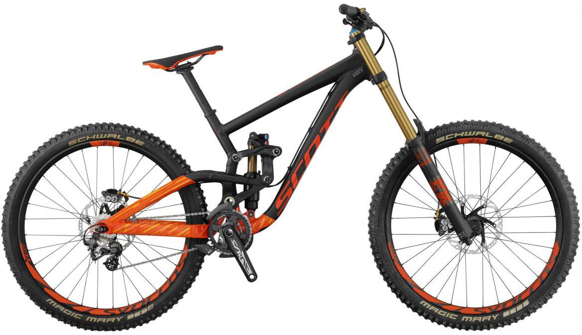 Велосипед горный Scott Gambler 710 2017, двухподвесный, цвет: оранжевый, рама 16, колесо 27,5276428