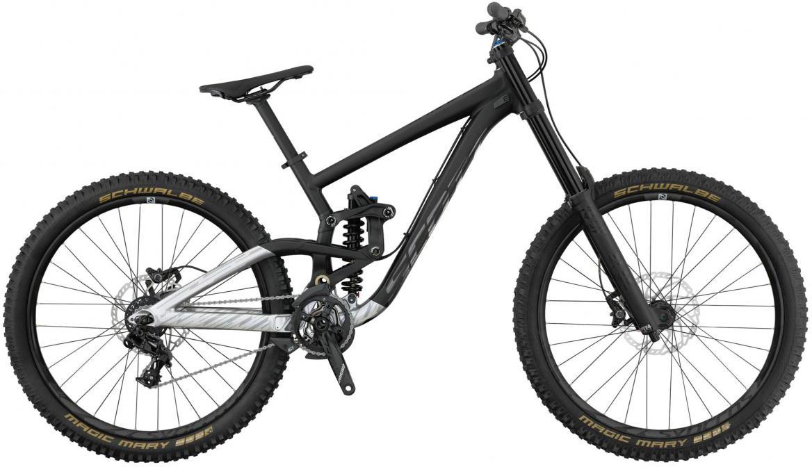 Велосипед горный Scott Gambler 720 2017, двухподвесный, цвет: черный, рама 20, колесо 27,5276433