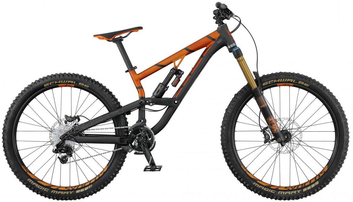 Велосипед горный Scott Voltage FR 710 2017, двухподвесный, цвет: оранжевый, рама 20, колесо 27,5276439