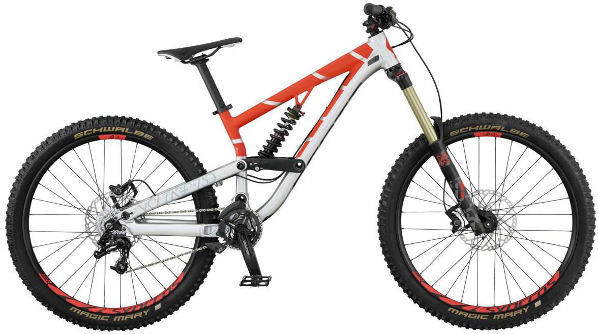 Велосипед горный Scott Voltage FR 730 2017, двухподвесный, цвет: оранжевый, рама 18, колесо 27,5276444