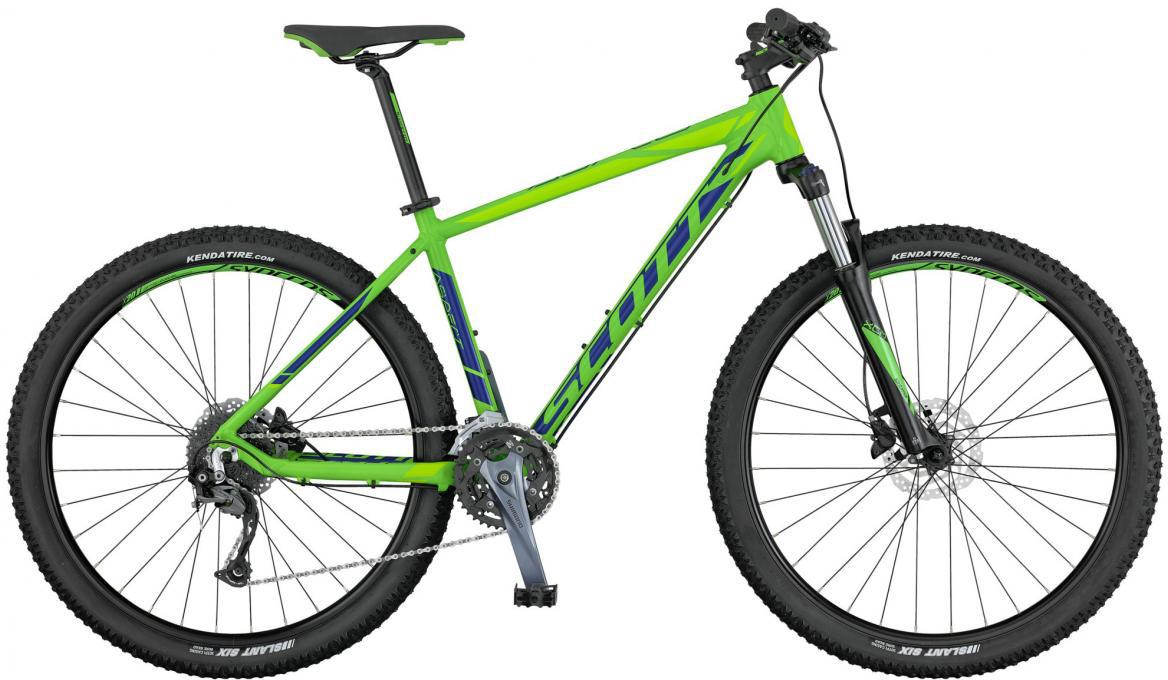 Велосипед горный Scott Aspect 740 2017, цвет: зеленый, рама 22, колесо 27,5276495
