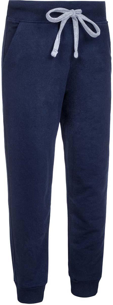 Брюки спортивные детские M&D, цвет: темно-синий. Б1917В29. Размер 146Б1917В29Спортивные брюки от M&D выполнены из плотного эластичного хлопка. Модель с широкой эластичной резинкой в поясе дополнена регулируемым шнурком. По бокам имеются втачные карманы. Брючины дополнены широкими трикотажными манжетами.