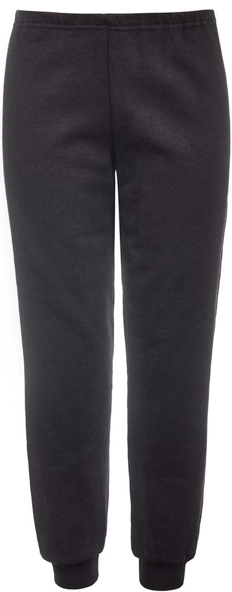 Брюки спортивные детские M&D, цвет: черный. Б191921. Размер 134Б191921Спортивные брюки от M&D выполнены из плотного натурального хлопка с начесом. Модель с эластичной резинкой на талии. Брючины дополнены широкими трикотажными манжетами.
