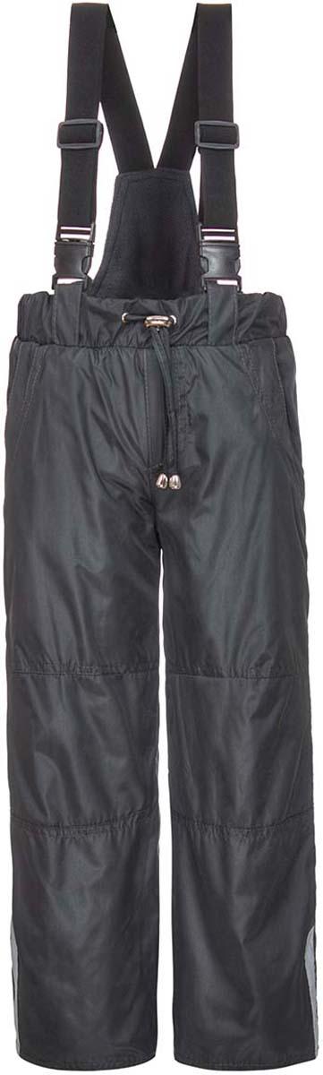 Брюки утепленные для мальчика M&D, цвет: серый. БС0007Ф20. Размер 122БС0007Ф20Утепленные брюки от M&D со спинкой и регулируемыми лямками выполнены из плащевой ткани на подкладке из флиса. Модель с эластичной резинкой на талии дополнена регулируемым шнурком. Спереди имеются втачные карманы, сзади – накладные карманы. По низу брючин снегозащитная манжета на резинке. По бокам брючины дополнены светоотражающими элементами.