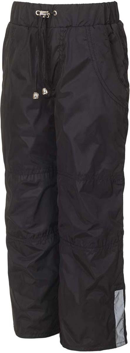 Брюки утепленные для мальчика M&D, цвет: черный. БР00007Ф21. Размер 146БР00007Ф21Утепленные брюки от M&D выполнены из плащевой ткани на подкладке из флиса. Модель с эластичной резинкой на талии дополнена регулируемым шнурком. Спереди имеются втачные карманы, сзади – накладные карманы. По низу брючин снегозащитная манжета на резинке. По бокам брючины дополнены светоотражающими элементами.
