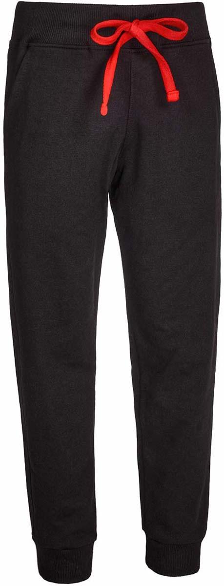 Брюки спортивные детские M&D, цвет: черный. Б1917В21. Размер 158Б1917В21Спортивные брюки от M&D выполнены из плотного эластичного хлопка. Модель с широкой эластичной резинкой в поясе дополнена регулируемым шнурком. По бокам имеются втачные карманы. Брючины дополнены широкими трикотажными манжетами.