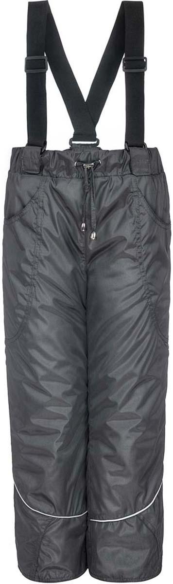 Брюки утепленные детские M&D, цвет: серый. 4БС205120. Размер 1344БС205120/4БС2051020Утепленные брюки от M&D на синтепоне, с притачным поясом на резинке и регулируемым шнурком. Накладные карманы спереди. По низу брюк снегозащитная манжета на резинке. Отстегивающиеся лямки, регулируемые по длине.