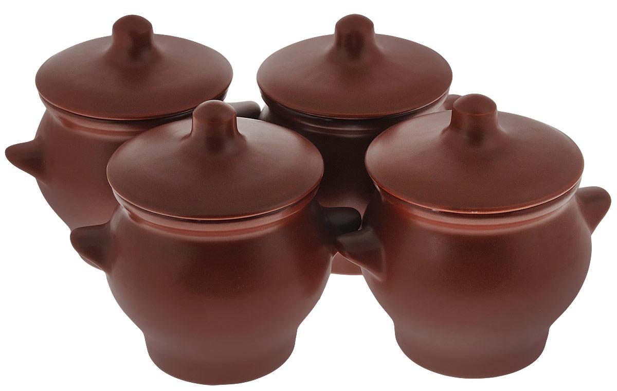 Набор горшочков для запекания Борисовская керамика Престиж, 4 шт, 700 мл
