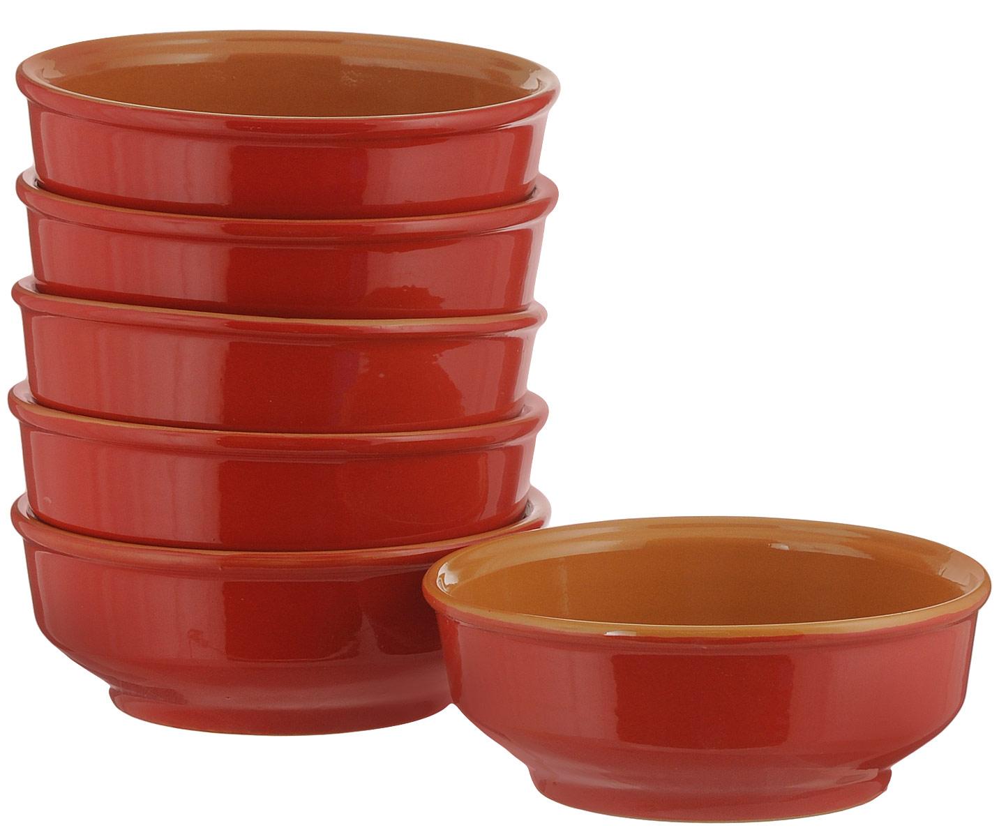 Миска Борисовская керамика Красный, цвет: красный, оранжевый, 500 мл, 6 штКРС14456756За основу создания изделия была взята форма посуды из музея славянской древности. Удобная миска для сервировки стола, подачи блюд и запекания в духовке. Порционный объем 0,5 литра. Миски можно ставить одна в одну. Один из самых лучших вариантов для подачи первых блюд.