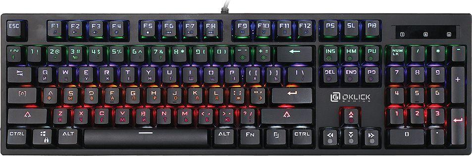 Oklick 940G, Black игровая клавиатура471467Механическая клавиатура с подсветкой