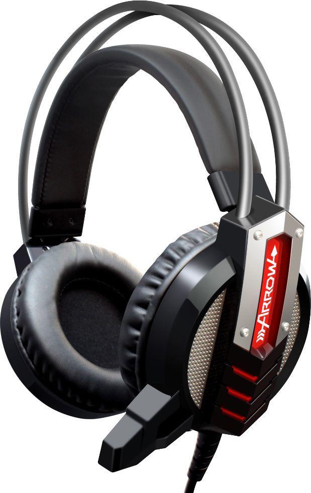 Oklick HS-L450G, Black игровые наушники472654Игровая гарнитура с подсветкой