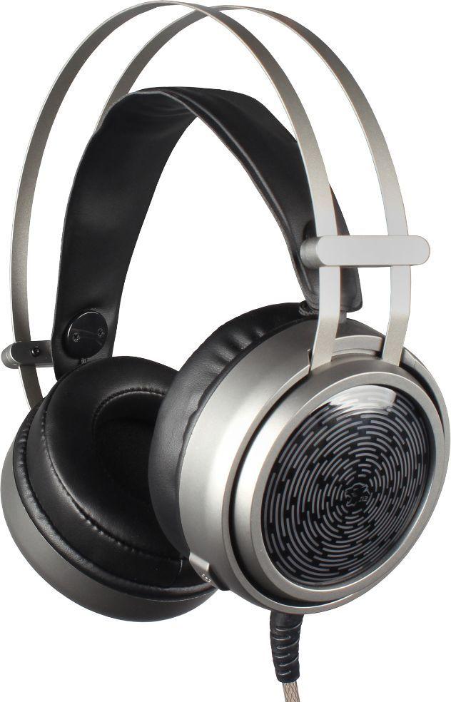 Oklick HS-L600G, Silver игровые наушники472659Игровая гарнитура с подсветкой