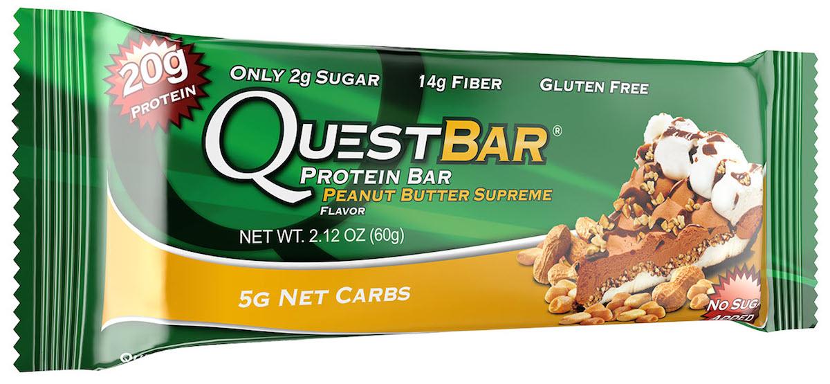 Батончик протеиновый Quest Nutrition QuestBar, арахисовая паста, 60 г quest nutrition questbar protein bar cinnamon roll 12 2 12oz bars