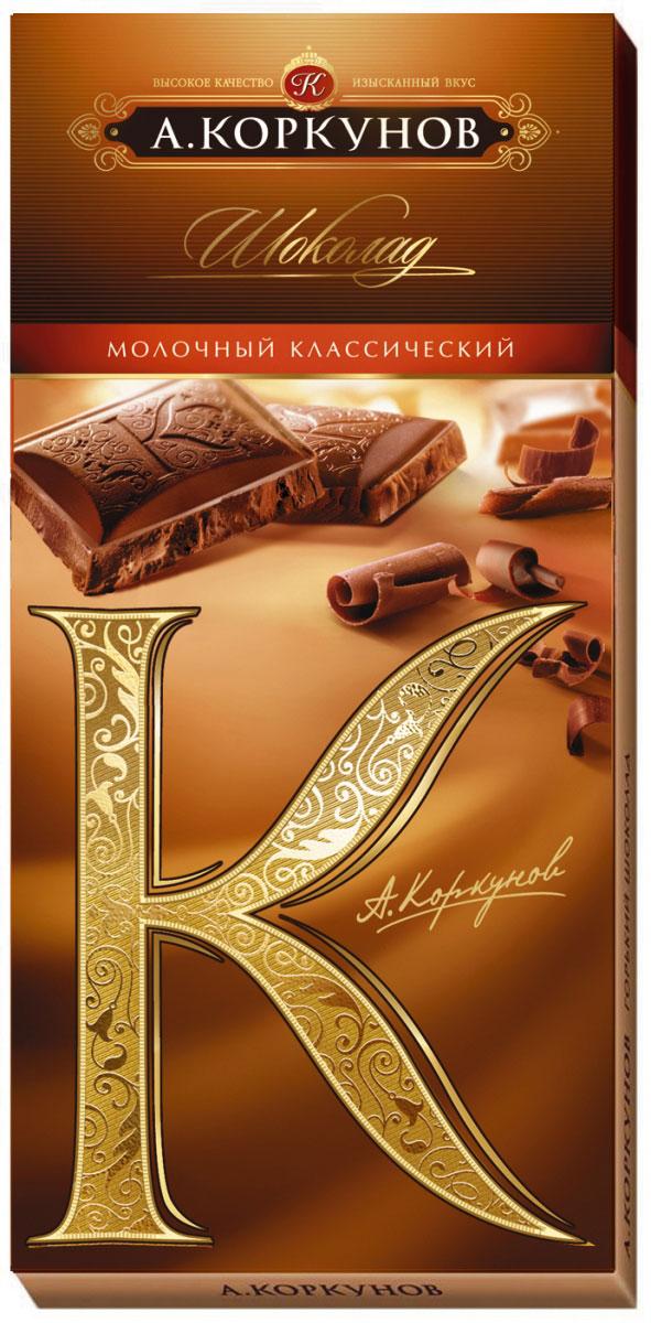 Коркунов молочный шоколад, 90 г райская птица молочный шоколад 38